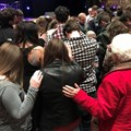 Divine Rhythm participants pray for Holston Conference delegates and Bishop Dindy Taylor on Saturday night, Feb. 2.