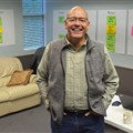 The Rev. John Gargis stands in an office decorated with timelines planning the new church he will lead in the Hardin Valley area of Knoxville.