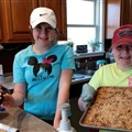 Allison Vincent, age 12, and Lindsey Vincent, age 11, are carrying on the youth ministry for Rye Cove UMC.